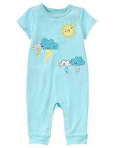 Gymboree Baby Toddler Boys' Cloud and Sun Romper