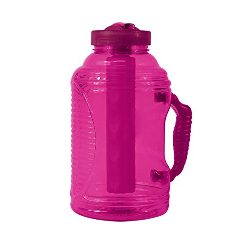 COOL GEAR 80oz Big Freeze Water Bottle with Freezer Stick and Handle