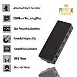 Small Voice Recorder 16GB- [TC] Mini Voice Activated Recorder [Bonus Value] Easy to Use - Playback On The Go-MP3 Player -Live Recording Listening- Long Battery Life - Ultra Light - Durable
