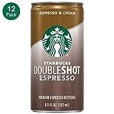 Starbucks Doubleshot, Espresso + Cream, 6.5 Fluid Ounce, Pack of 12