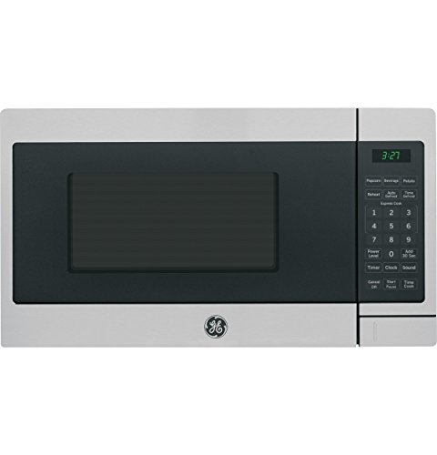 GE JEM3072SHSS 0.7 Cu. Ft. Capacity 700 Watt Countertop Microwave Oven, Auto and Time Defrost in Stainless Steel