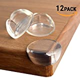 TEEHOME Corner Guards (12 pack) Update 2019 REAL STRONG ADHESIVE Protect Children From Injury | Corner Covers Baby Safety | Table & Furniture Corner Protectors Clear | Child Proof Corner Bumpers