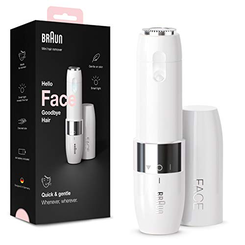 Braun-Face-Mini-Hair-Remover-FS1000-Electric-Facial-Hair-Removal-for-Women-Facial-Hair-Remover-Quick-Gentle-Finishing-Touch-for-Upper-Lips-Chin-Cheeks-Ideal-for-On-the-Go-with-Smartlight-White-Color