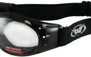 Global Vision Eliminator Motorcycle Goggles (Black Frame/Clear Lens)