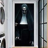 KKING Halloween Door Poster Horror Ghost Banner Decoration Toilet Door Cover Trick or Treat