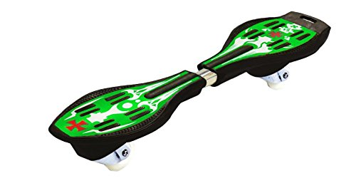 Ripstik Caster Board - Radically Intense Acceleration Waveboard with 360 Degree Caster Trucks and Anti Slip Concaved Platform Kids Ages 8 and Up   Portable Lightweight Wave Board   Skateboard - Green