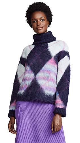 81T4Hawk7LL Chunky brushed knit 35% alpaca/35% mohair/30% nylon Dry clean