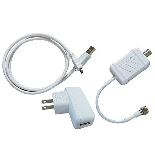 Winegard LNA-100 Boost TV Antenna Amplifier, HDTV Signal Booster, HD Digital VHF UHF Amplifier, Indoor HDTV Ultra Low Noise Amp (USB Power Supply) - USA