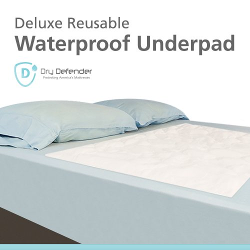 Quilted Waterproof Mattress Overlay Pad - Extra Large Flat 36x70 '