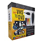 TopYart VHS to Digital Converter -[Upgrade] USB 2.0 Video Audio Capture Recorder Adapter Card V8/Vi8 VHS to DVD Converter TV DVR VCR CCTV Camcorder to PC for Windows 10/8