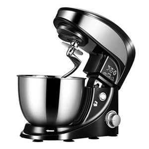 WJSW Stand Mixer, 800W Food Mixer with 4L Stainless Steel Bowl 4-Speed Electric Cake Mixer, Multi-Function Chef Machine with Dough Hooks, Whisk, Beater 41ZkeW39y5L