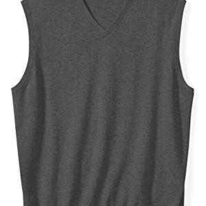 Amazon Essentials Men's V-Neck Sweater Vest fit by DXL