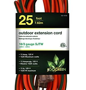 GoGreen Power GG-13725 – 16/3 25′ SJTW Outdoor Extension Cord – Lighted End