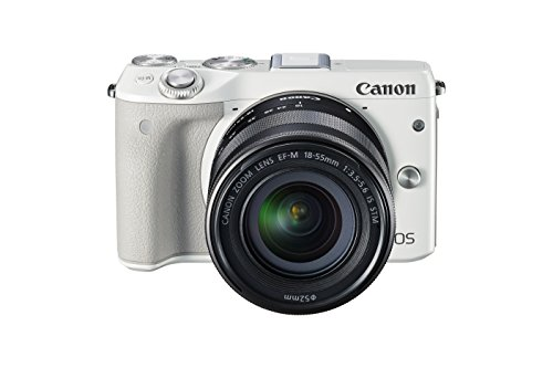 Canon EOS M3 Mirrorless Camera Kit with EF-M 18-55mm Image Stabilization (IS) STM Lens - Wi-Fi Enabled (White)