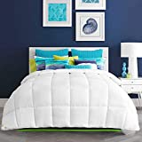 HARBOREST Lightweight Down Alternative Comforter - Plush Microfiber Fill - All-Seson White Comforter Duvet Insert with Corner Tabs, King
