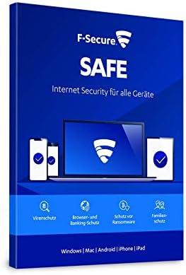 F-Secure SAFE Internet Security – 2 Jahre / 10 Geräte für Multi-Plattform (PC, Mac, Android und iOS) [Online Code]