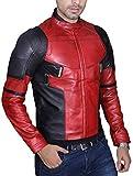Men's Fashion Deadpool Wade Wilson Ryan Reynolds Synthetic Faux Leather Jacket
