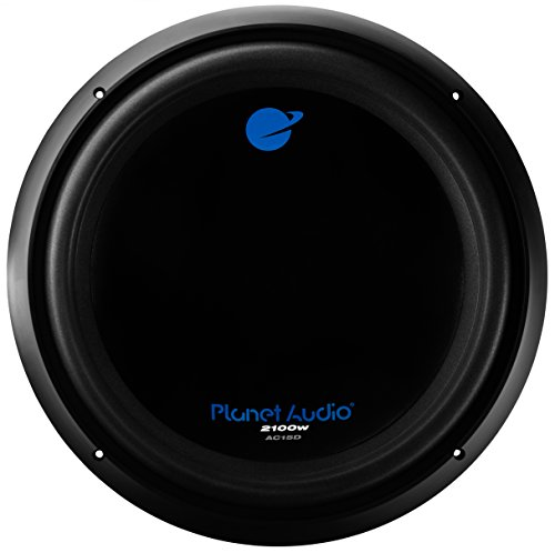 1. Planet Audio AC15D 2100 Watt, 15 Inch, Dual 4 Ohm Voice Coil Car Subwoofer
