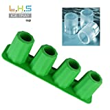 Litetao Clearance 4-Cup Ice Cube Shot Shape Rubber Shooters Glass Freeze Mold Maker Tray Party, Stackable Miniature Ice Cube Tray for Mini Fridges, Dorm Freezers and Small Freezers (Green)