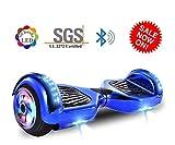 """Dartjet 6.5"""" Smart Self-Balanced Hoverboard UL-2272 Certified, Build-in Bluetooth Speaker, Illuminated Colorful LED Wheels, LED Fender & Front Lights"""