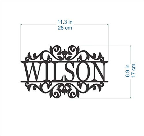 Personalized Any Name Laser Cut Acrylic Metal Wood Sign Outdoor Wall