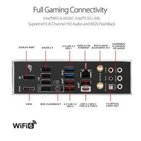 ASUS-ROG-Strix-Z490-E-Gaming-Z490-WiFi-6-LGA-1200-Intel-10th-Gen-ATX-Gaming-Motherboard-142-Power-Stages-DDR4-4600-Intel-25-Gb-Ethernet-Bluetooth-v51-Dual-M2-and-Aura-Sync