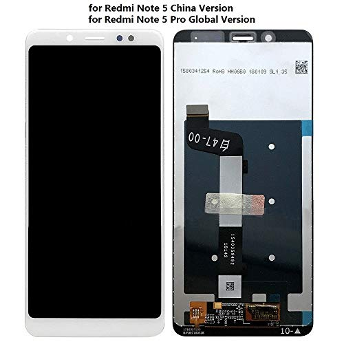 MobiSpare® LCD Display with Touch Screen Digitizer Combo Compatible for Redmi Note 5 Pro - White 1