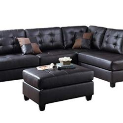 Poundex PDEX-F6855 Upholstered Sofas/Sectionals/Armchairs, Espresso