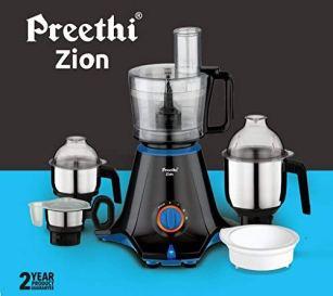 Preethi-Zion-MG-227-Mixer-Grinder-750W-4-Jars-Black