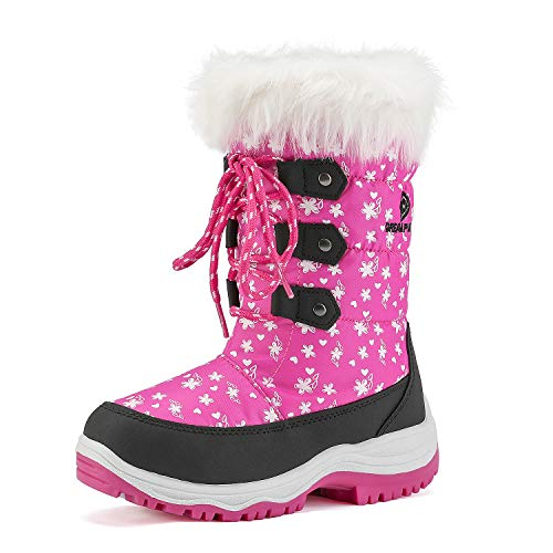 DREAM PAIRS Big Kid Nordic Pink Knee High Winter Snow Boots Size 6 M US Big Kid