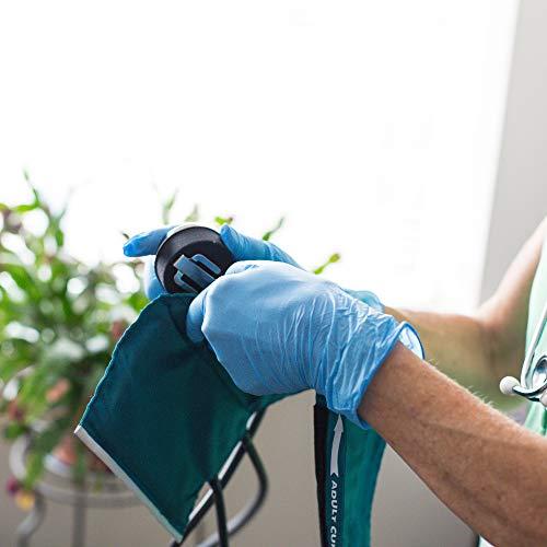 AMMEX Blue Nitrile Exam 4 Mil Disposable Gloves – Exam Grade, Powder-Free, Textured, Non-Sterile, Medium, Box of 100 deal 50% off 41a7M7fqLtL