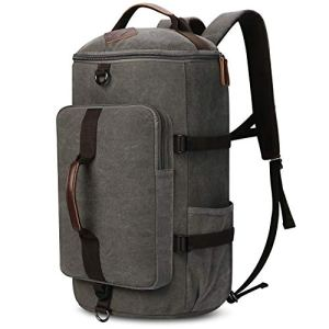 Carry on Backpacks, Yousu Mens Vintage Travel Backpack Rucksack Outdoor Traveling Duffle Backpack Bag Classic Travel Multi Functional Bags 3-In-1 Grey 8 Fashion Online Shop 🆓 Gifts for her Gifts for him womens full figure
