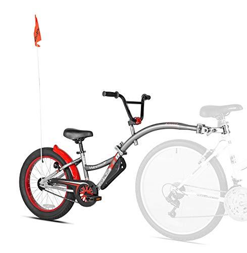 WeeRide Co-Pilot XT Deluxe Wide Tire Bike Trailer, Grey (Renewed)