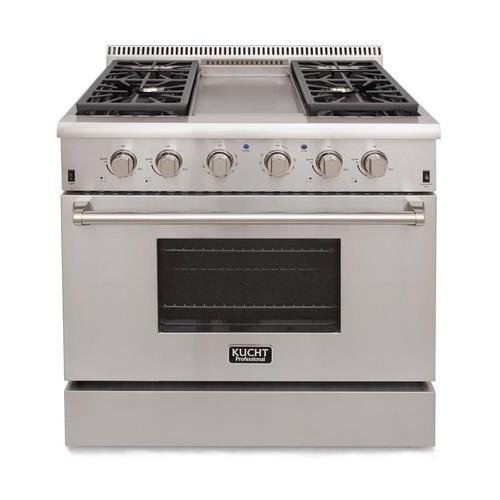 Kucht KRG3609U/LP Professional 36' 5.2 cu. ft. Propane Gas Range, Stainless-Steel