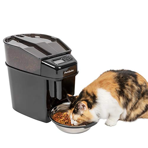 PetSafe Healthy Pet Simply Feed Automatic Cat and Dog Feeder with Stainless Steel Bowl, Holds Dry Cat and Dog Food 1