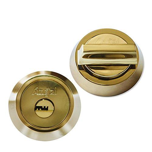 Angal High Security Single Deadbolt Lock, Pick/Drill/Bump Proof, Heavy Duty.