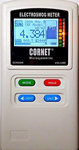 CORNET ED-88TPlus EMF/RF Detector 100MHz - 8GHz  Includes Free Safe Living Technologies Hard Shell Zipper Case! 