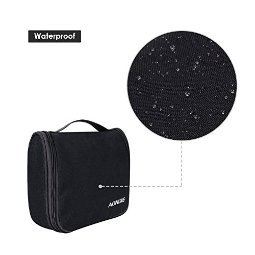 939548e3d223ae WATERFLY Travel Toiletry Bag Makeup Cosmetic Bag Sturdy Hanging Organizer  for Women Men