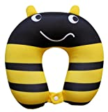 Nido Nest Kids Travel Neck Pillow Rest for Children - Airplanes, Cars, Road Trips, Sleeping, Naps, Gifts - Toddler, Preschool, Elementary Child - Bumblebee
