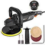Polisher,Tacklife 7-Inch 12.5Amp 1500W Variable Speed Polisher,With Digital Screen, Lock Switch, Detachable Handle, Ideal For Car Sanding, Polishing, Waxing, Sealing Glaze - PPGJ01A