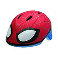 The spider-man Spidey eyes toddler bike helmet provides protection for bike, skate or scooter and pinch guard ensures pinch-free buckling.