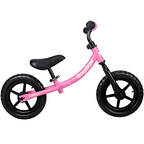 JOYSTAR Balance Bike for 1.5-5 Years Old Girls, Toddler Push Bike with Puncture-Proof Tire for Child, 12 inch Kids Glider Bike, Children Slider Cycle, Pink