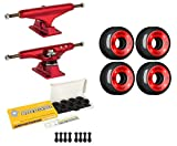 Independent Skateboard Trucks 144 Red, 52mm Black Bones Wheels, Ceramic Bearings