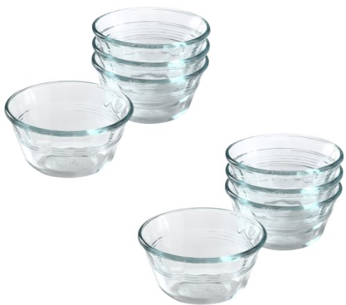 Pyrex Bakeware Clear Custard Cups, Set of 8, 6-Ounce