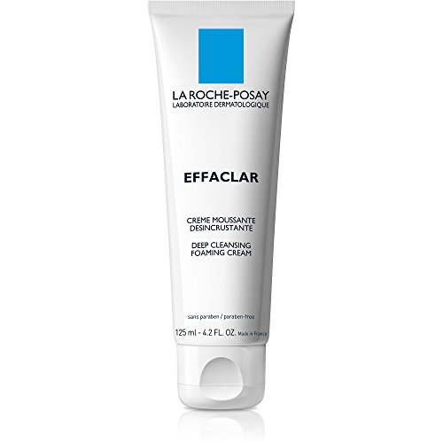 La Roche-Posay Effaclar Deep Cleansing Foaming Cream Cleanser, 4.2 Fl. Oz.