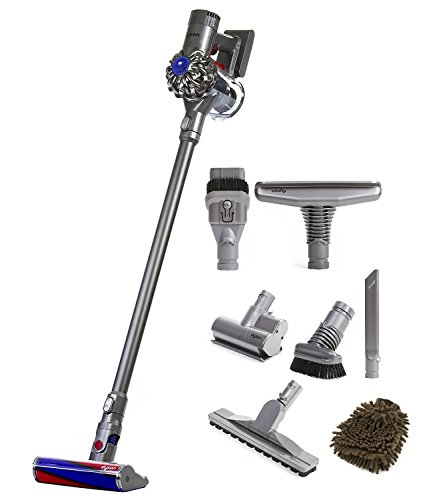 Dyson Animal V6 Fluffy Cordless Vacuum with Attachments (Complete Set) w/ Bonus: Premium Microfiber Cleaner Bundle