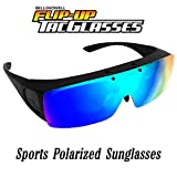 TAC FLIP Glasses by Bell+Howell Sports Polarized Flipping Sunglasses for Men Military-Inspired As Seen On TV (Blue)