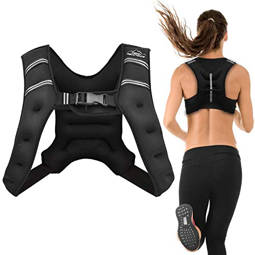 Aduro Sport Weighted Vest Workout Equipment, 4lbs/6lbs/12lbs/20lbs/25lbs Body Weight Vest for Men, Women, Kids (12 Pounds (5.44 KG))