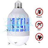 GLOUE Bug Zapper Light Bulb, 2 in 1 Mosquito Killer Lamp UV Led Electronic Insect & Fly Killer