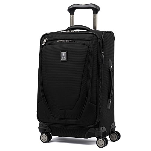 Travelpro Luggage Crew 11 21' Carry-on Expandable Spinner w/Suiter and USB Port, Black